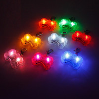 Wholesale led dog collar safety tags resale online - Party Dog cm Colors Pet Dog Tag Pendant Safety Supplies LED Luminous Pendant Ornaments Glowing Pet Supplies Pets Tags