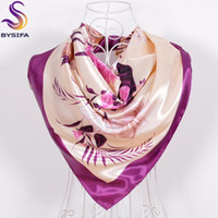 Wholesale square scarves china for sale - Group buy Green Silk Scarf New Arrival Brand Design Satin Big Square Scarf Printed Women Silk Scarf China Style Handkerchief cm
