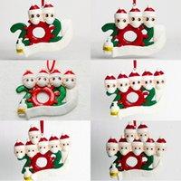Wholesale head clay resale online - Christmas DIY Name Ornament Christmas Quarantine Wearing Masks Decoration Head Soft Clay Christmas Decor EWE1777