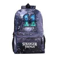 Wholesale stranger things backpack for sale - Group buy Fashion Dos Femme Anime Travel stranger things Backpack Backbag Women Mochila Back to School Bags For Teenage Girls