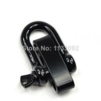Wholesale stainless steel shackle bracelet resale online - 30pcs lotfree ePacket ship High Quality Black adjustable D stainless steel shackle for paracord bracelets paracord bracelets