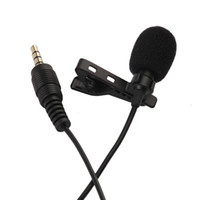 Wholesale mini microphone cell phone resale online - New Portable Clip on Lapel Lavalier Microphone mm Jack Hands free Mini Wired Condenser Microphone for Samsung Smartphone