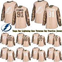 Wholesale ice hockey practice jerseys for sale - Group buy Custom Tampa Bay Lightning Camo Veterans Day Practice Jersey Steven Stamko Kucherov Hedman Any Name Any Number Hockey Jerseys