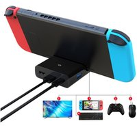 Wholesale nintendo switch docks for sale - Group buy Game dock with hd PD charging USB USB2 for cellphone with type c Nintendo Switch console
