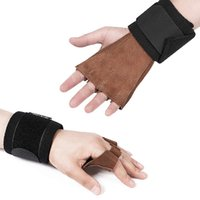 Wholesale wrist protection gloves for sale - Group buy Weight Lifting Fitness Gloves with Wrist Wrap Hand Grips Full Palm Protection Crossfit Weightlifting Powerlifting Training Glove