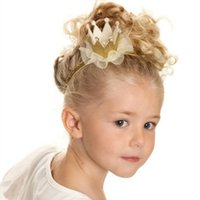 Wholesale flowers birthday month resale online - Baby Birthday Party Flower Hair Band Sequins Crown Headband Princess Glitter Month Years Old Photography Hat