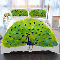Wholesale peacock bedding resale online - Bedding Piece Duvet Cover Sets Watercolor Illustration Of A Bird Peacock Duvet Cover Designer Bed Comforters Sets