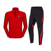 Wholesale mid jersey soccer for sale - Group buy K S C Lokeren Oost Vlaanderen Polyester Soccer Team Autumn Winter Jersey Pant Outdoor Sportswear Adult Kids Tracksuits