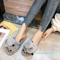 Wholesale womens house shoes resale online - Shoes Slipper Womens Men Home Fluffy House Winter Warm Slippers Soft Sneakers Indoors Bedroom Pantuflas Zapatos k03
