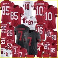 Wholesale 49er jerseys for sale - Group buy 97 Nick Bosa George Kittle Colin Kaepernick Jimmy Garoppolo Jersey San Francisco er Deion Sanders Richard Sherman Montana