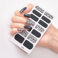 Wholesale strips nails resale online - Full Nail Wraps Art Polish Stickers Leopard Decal Strips Adhesive False Nail Design Manicure Set D Shiny Nail Stickers RRA3560