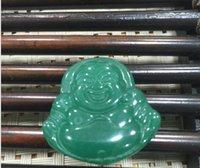 Wholesale jade buddha gifts resale online - Factory direct sales jade imitation jadeite quartzite jade mixed stone oil blue buddha pendant jade gift