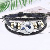 Wholesale ballerina jewelry for sale - Group buy Ballerina Girl Shoes Fashion Glass High Quality Girls Black Leather Bracelet Bangles Jewelry For Schoolgirl Maxi