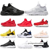 Wholesale black huarache resale online - 2020 Ultra Huarache Running Shoes Triple s White Black Classical red Pink men women Huaraches Outdoor Trainer sports sneakers
