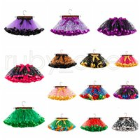 Wholesale dresses for holidays resale online - 2 Years Baby Girls Tutus For Halloween Christmas Polka Dots Skeleton Goast Printed Dress Toddler Girl Holidays Tutu Skirts RRA3559