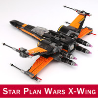 Wholesale gun diy resale online - 742pcs First Order X Wing Fighter BB Building Blocks Figures Toys Compatible DIY Star Plan Wars Series