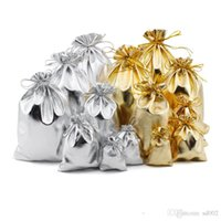 Wholesale couch bags resale online - Popular Gold And Silver Cloth Storage Bag Couch Women Convenient Jewellery Packing Gift Pouch Bags Organizer Wedding Favors ad6 dd