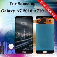 Wholesale prices for samsung galaxy for sale - Group buy Factory Best Price Repair for Replacing LCD touch Screen for samsung galaxy A7 A710 A710F A710M A710FD TFT Brightness adjustable