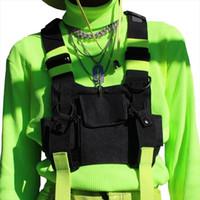 Wholesale tactical hip pouch resale online - Chest Rig Bag Tactical Vest Harness Front Pack Pouch Holster Vest Rig Hip Hop Streetwear Functional Chest Bag For Men Waist Bag