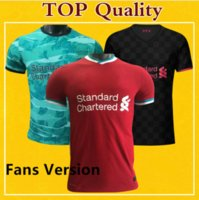 Wholesale LVP L verpool Soccer Jersey Fan Version Men Size S XXXL Camisa De Futebol Top Quality