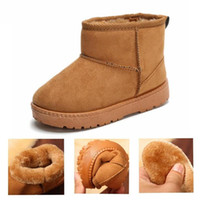 Wholesale red boots children girl for sale - Group buy Winter Kids Baby Toddler Shoes Plush Warm Children Snow Boots Shoes Plush Thicker Sole Non slip Boys Girls Martin Cotton Boots