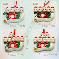Wholesale xmas soft toys resale online - Quarantine Family Christmas Ornament DIY Polymer Clay wih Face Mask Santa Snowman Xmas Tree PARTY Hanging Soft Kids Ceramic Toy GWF1790