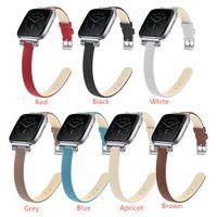 Wholesale premium watches resale online - Premium Genuine Leather Replace Band Strap For Fitbit Versa Versa Versa Lite