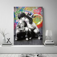 Wholesale african women paintings abstract for sale - Group buy Abstract Canvas Oil Painting Banksy Graffiti Wall Art African Women Canvas Poster Print Wall Pictures for Living Room Decor