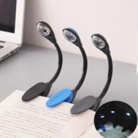 LED Book Light Mini Clip-On Flexible Bright led lights Book Reading Lamp For Travel Bedroom Book Reader