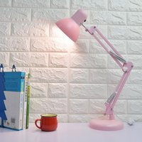 Wholesale small desk lamps led resale online - Cgjxs Led American Long Arm College Student Dormitory Desk Bedroom Bedside Eye Protection Learning Folding Clip Small Table Lamp Eye Protect