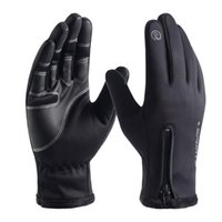 Wholesale warm waterproof gloves for men for sale - Group buy New Unisex Winter Gloves for Men Outdoor Cycling Sports Female Waterproof Zipper Windproof Warm Tactical Gloves Invierno Mujer