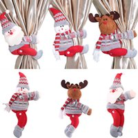 Wholesale doll window for sale - Group buy Christmas Decorations Christmas Dolls Christmas Tree Curtain Curtain Buckle Holiday Window Scene Layout Cartoon Doll Buckle OWC2115