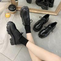 Wholesale punk black sneaker for sale - Group buy Autumn Boots Women Platform Boots Thinken Heel Chunky Sneakers Black Punk Shoes Height Increasing Botas De Mujer