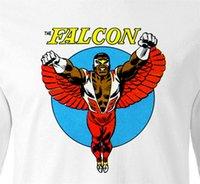 Wholesale superhero long sleeve t shirts resale online - The Falcon T Shirt Long Sleeve Retro Marvel Comic Book Superheroes Cotton Novelty Breathable Tee Shirt