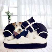 Wholesale dog beds for sale - Group buy Warm Chihuahua Small Dog Bed Luxury Pet Dog Sofa Beds With Pillow Detachable Wash Soft Fleece Cat Bed