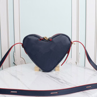 Wholesale heart shaped cross body bags for sale - Group buy Women Handbag Purse Shoulder Bags Wallet Fashion Lock Accessory Genuine Leather Old Flower Embossed Letter Heart Shaped