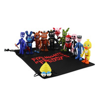 13pcs lot 9cm Fnaf Pvc Action Figures With Gift Bag Five Nights At Freddy's Freddy Fazbear Foxy Dolls Toys Brinqudoes Kids Gifts Y200919