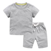 Wholesale peach baby clothes for sale - Group buy DE PEACH Summer Boys Clothing Sets Children Cotton T shirts Shorts Suits For Boys Girls Baby Kids Clothes Set For Years