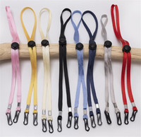 Wholesale face drops resale online - Adjustable Face Mask Lanyard Handy Convenient Holder Rope Anti lost Anti drop Mask Hanging Neck Rope Halter Ropes