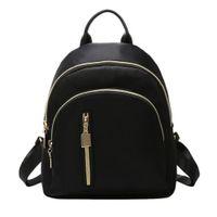 Wholesale school closures for sale - Group buy Black Backpack Fashion Women Small Travel Backpacks Zipper Closure Oxford Daypack Schoolbag School Bag Set For Teen Bookbag