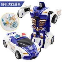 Wholesale New Arrival One key Deformation Car Toys Automatic Transform Robot Plastic Model Car Funny Toys For Boys Amazing Gifts Kid Toy Good