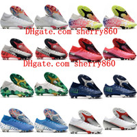 Wholesale 2020 mens boys soccer shoes women children soccer cleats Mercurial suprefly Elite FG football boots scarpe da calcio size