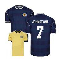 Wholesale scotland jersey xxl resale online - 1982 Scotland retro soccer jerseys world cup Dalglish Strachan Miller Souness Hansen George Wood star football shirt size S XXL