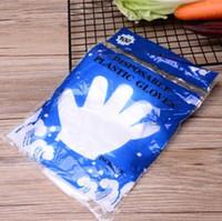 Wholesale kitchen work resale online - Disposable Gloves Plastic Film Transparent Gloves Housekeeping Kitchen Work Gloves Hygiene Garden Cleaning Glovess DHC1181