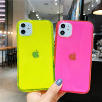 Wholesale Neon Fluorescent Color Phone Back Cover For iPhone Plus Soft TPU Clear Case For iphone Pro XR X XS Max Shockproof Case