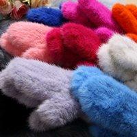 Wholesale white net gloves resale online - 2020 Winter Gloves Fashion Women s Luxury Knitted Elastic Net Thermal Mitten BE1511