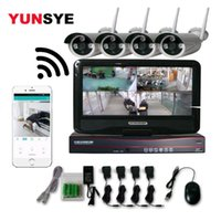 Wholesale video lcd cctv for sale - Group buy YUNSYE CH MP P Wireless NVR Kit LCD HD Outdoor Security MP IP Camera Video Surveillance Wifi CCTV Camera System