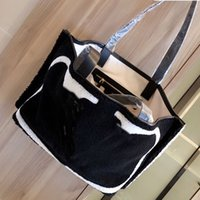 Wholesale bag lamb resale online - New Style Lamb Wool Shopping Bag Tote Bags Handbag Purse Fashion High Quality Letter Soft Tote Bags Interior Zipper