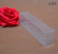 Wholesale pvc wedding candles resale online - Wedding christmas Rectangle Clear Packing Pvc Plastic Favor Candy Box Party Gift candle dry Fruit Toys Ysiu