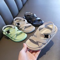 Wholesale children green princess shoes for sale - Group buy Summer Kids Sandals for Girls boys Baby Sandals Genuine Leather Princess Girls Shoes Children Rome Beach Toddler Shoes